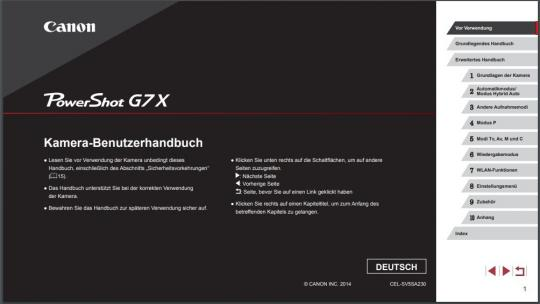 Bedienungsanleitung PowerShot G7 X