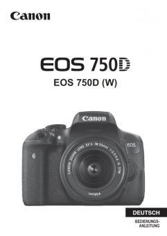 EOS 750D Bedienungsanleitung