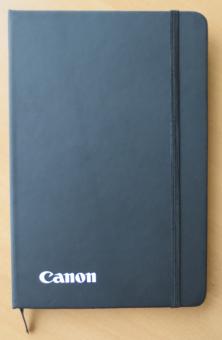 Notizbuch schwarz, A5, blanko Seiten